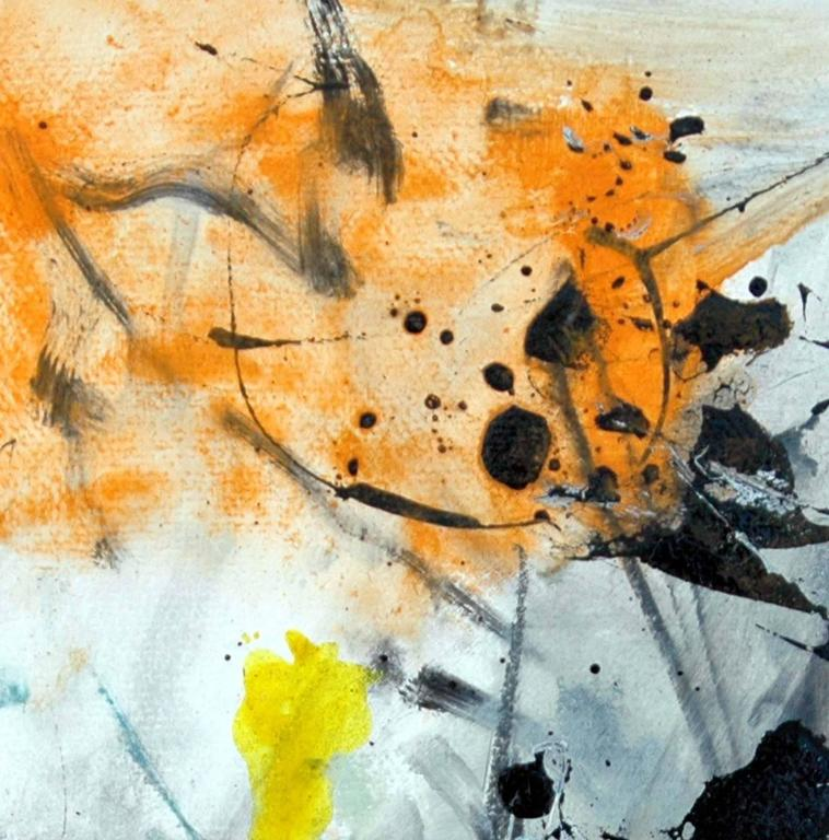 Denouement No 26 - Gray Abstract Painting by Scott Pattinson