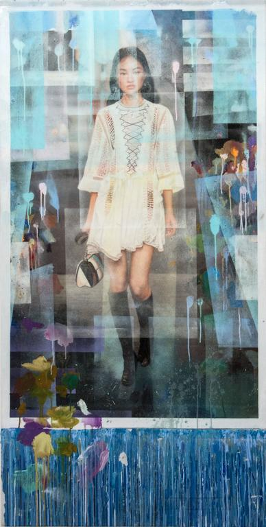 Peter Hoffer Portrait Painting - Runway Model (Prada)