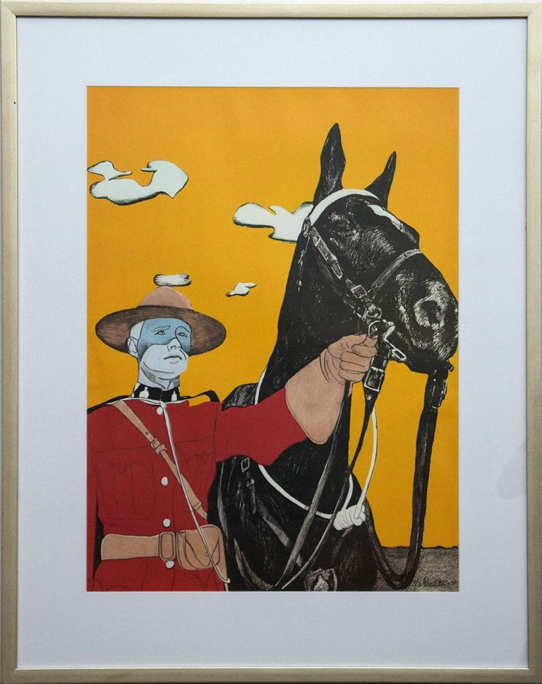 Charles Pachter Figurative Print - Noblesse Oblige 3/10 - pop-art, Canadiana, iconic, contemporary, giclee print