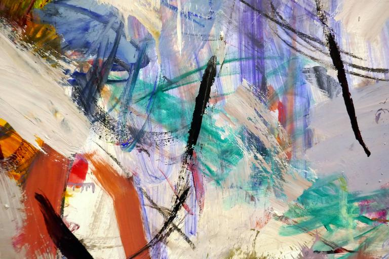 Ouvert No 11 - large, vibrant, colourful, gestural abstract, oil on canvas - Painting by Scott Pattinson