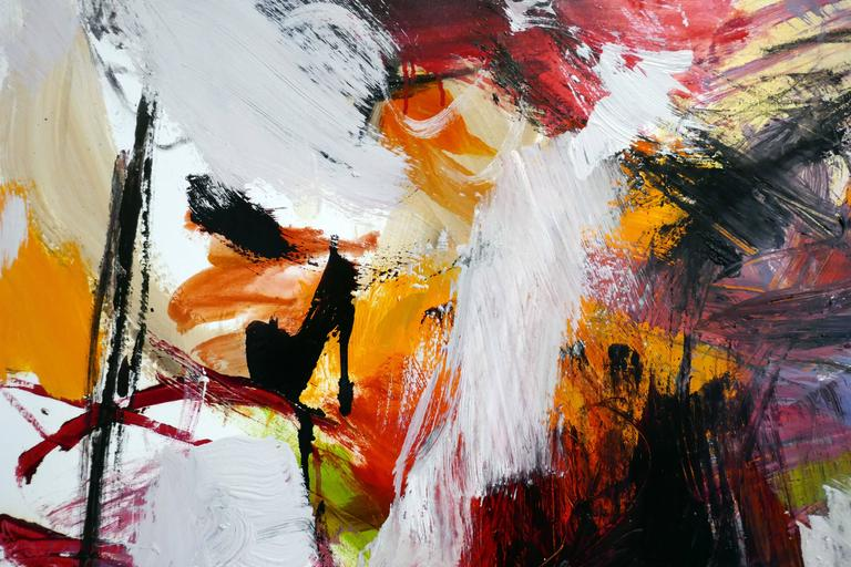 Ouvert No 11 - large, vibrant, colourful, gestural abstract, oil on canvas - Contemporary Painting by Scott Pattinson