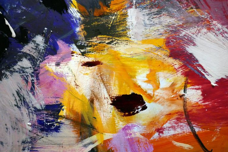 Ouvert No 11 - large, vibrant, colourful, gestural abstract, oil on canvas For Sale 1