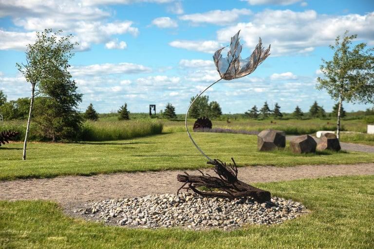 Sacrifice - Wind Swept Maple Leaf - Sculpture by Floyd Elzinga