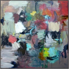 Kairoi No 16 - large, vibrant, colourful, gestural abstract, oil on canvas