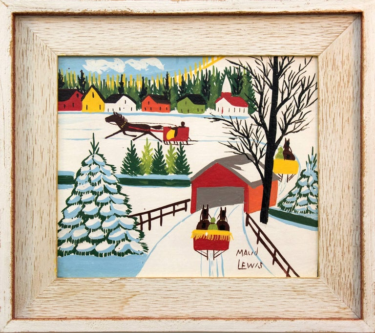 Covered Bridge - Painting by Maud Lewis