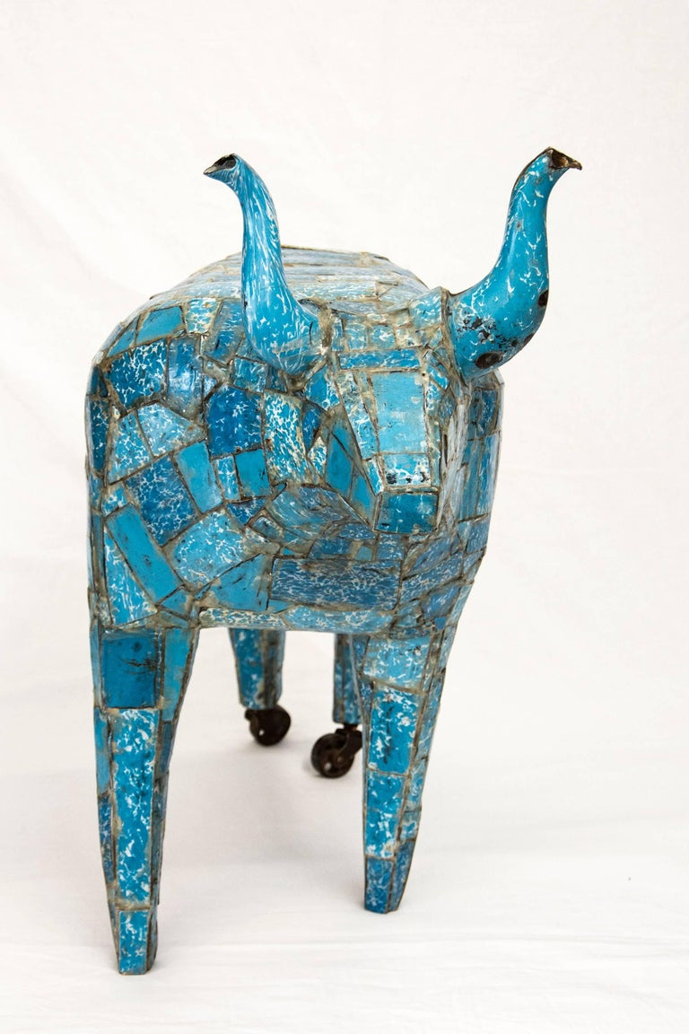 Big Blue Bull - Contemporary Sculpture by Susan Valyi
