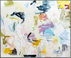 Kairoi No 05 - large, bright, colourful pastels, gestural abstract oil on canvas