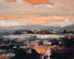 Ontario Landscape With Orange Sky
