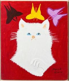 Portrait of White Cat & Framed Envelope