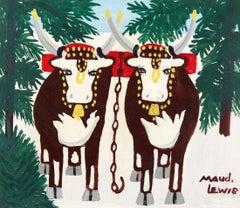 Two Oxen in Winter, Four Legs
