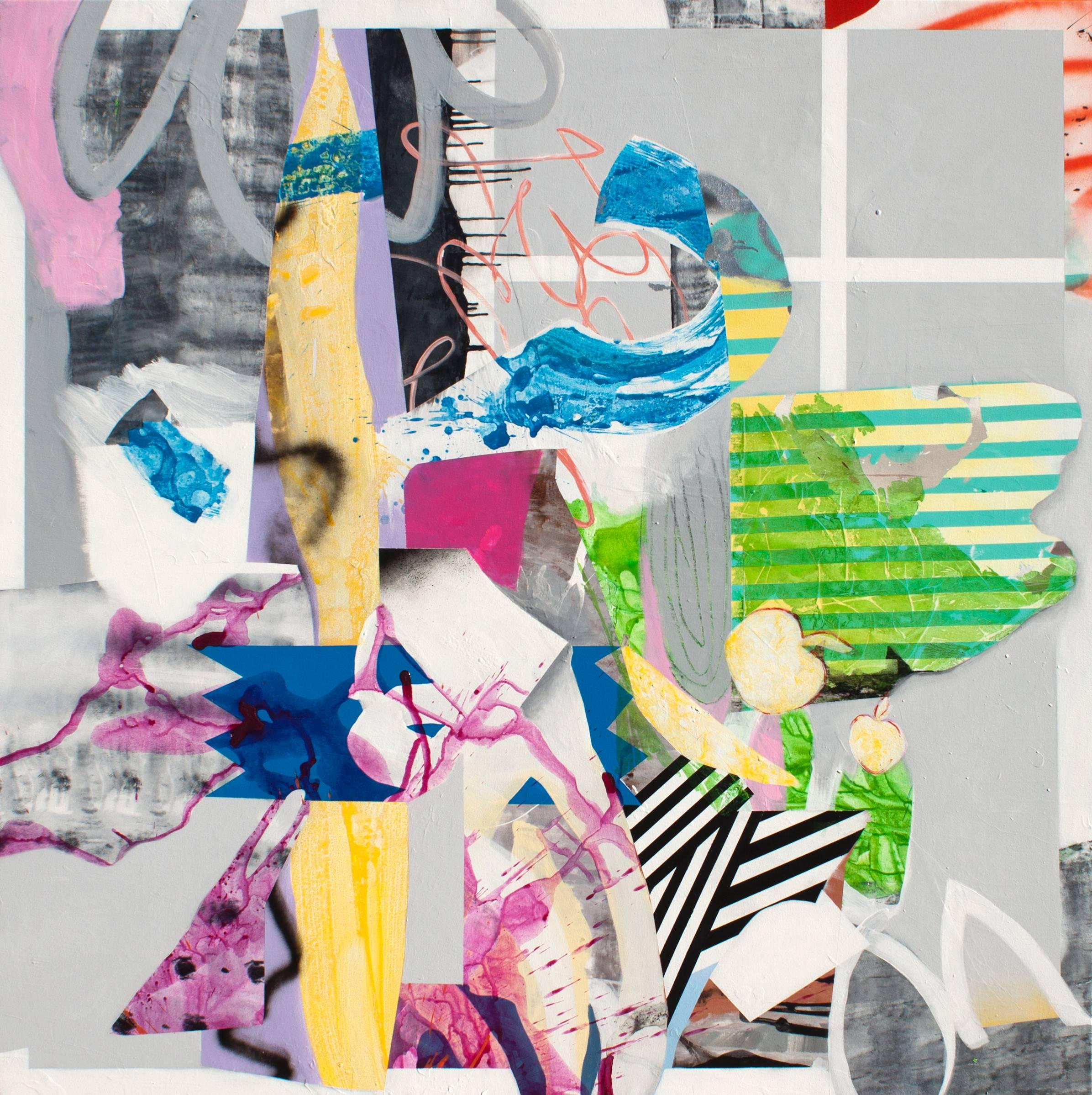 Paper House - A lively and colorful collage composition