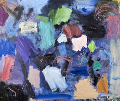 Clyde House No 89 - large, bold, colourful, gestural, abstract, oil on canvas