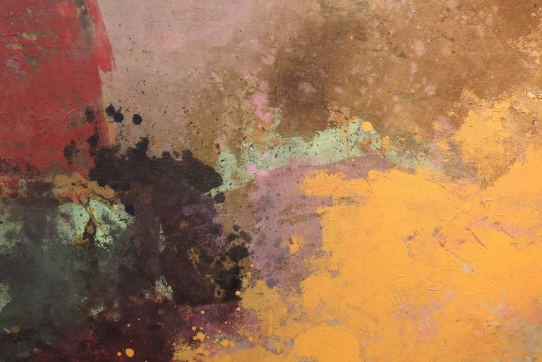 Untitled No 7901 - Brown Abstract Painting by John Richard Fox