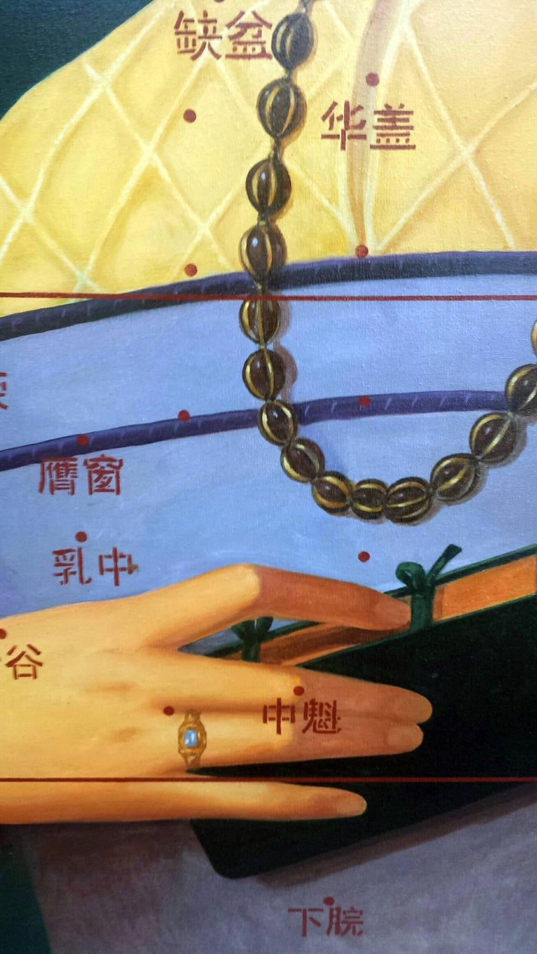 Nie Jian Bing incorporates Chinese characters in the skilled close up recreation of a 1545 painting