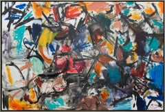 Denouement No 64 - large, vibrant, colourful, gestural abstract, oil on canvas
