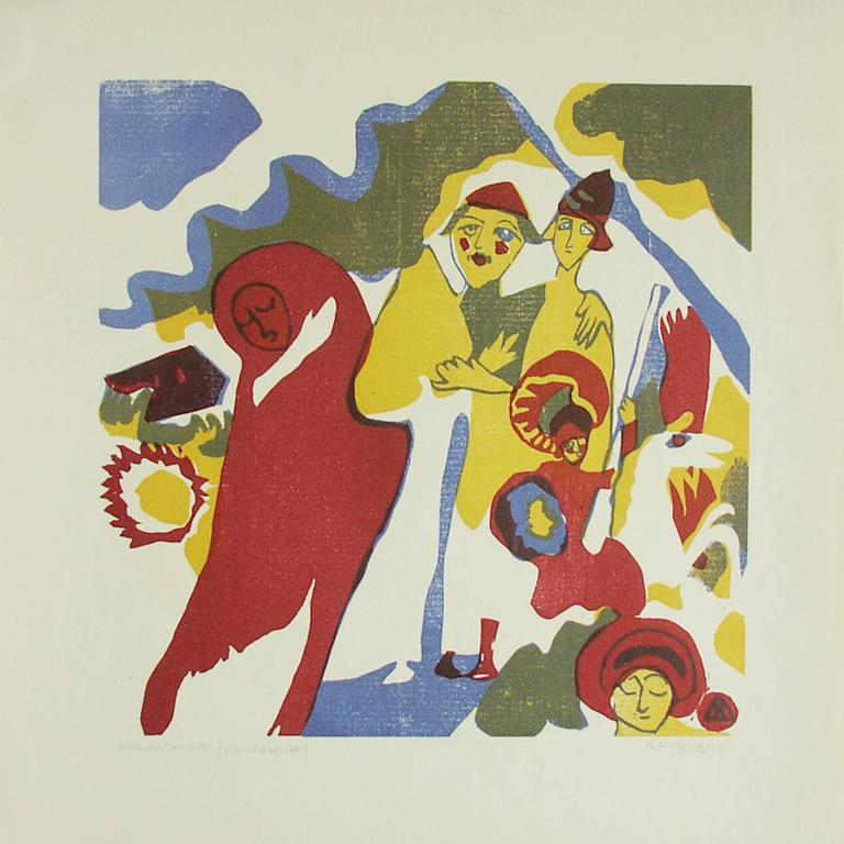Wassily Kandinsky Abstract Print -  Allerheiligen- All Saints Day.