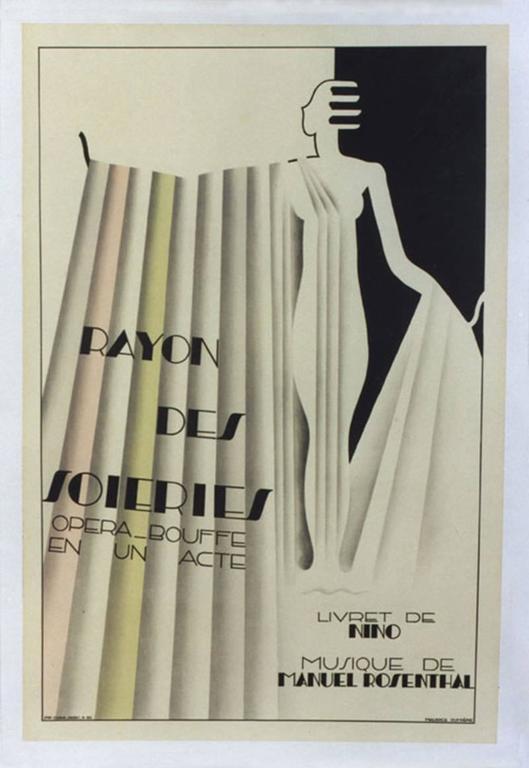 Maurice Dufrêne Figurative Print -  Rayon des Soieries