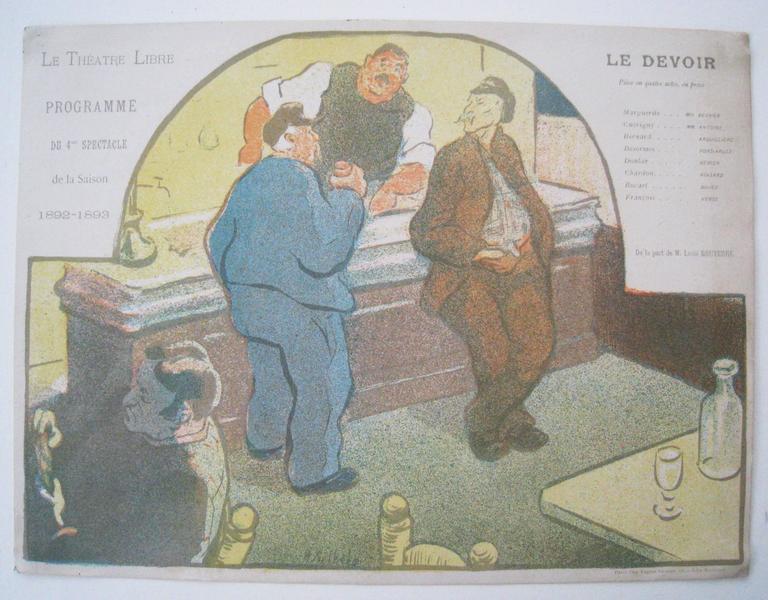 Henri Gabriel Ibels Figurative Print - Le Devoir