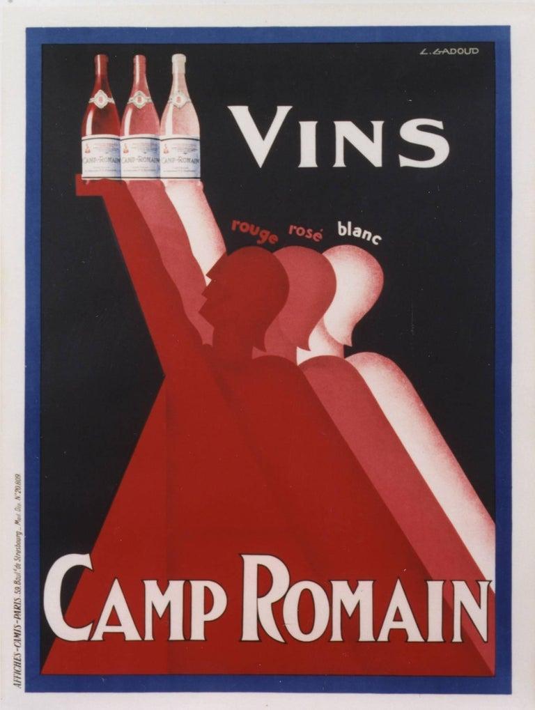 CLAUDE GADOUD Figurative Print - Vins Camp Romain
