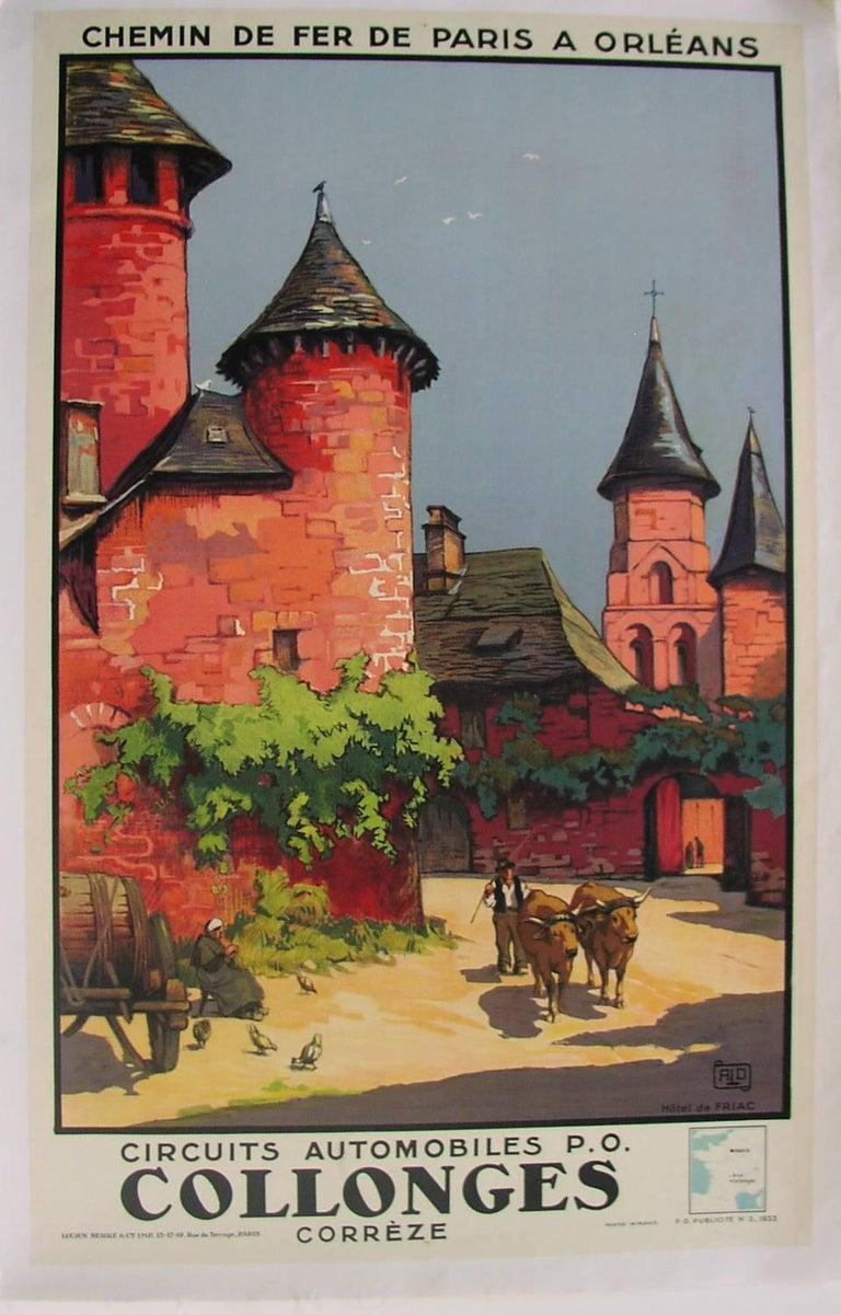 ALO (Charles Hallo) Landscape Print -  Chemin de Fer De Paris A Orleans Collonges [Hotel de Friac]