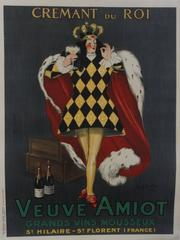 Cremant du Roi/Veuve Amiot, 1922. Color lithograph
