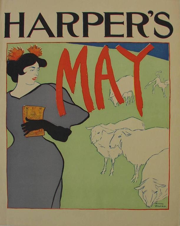 Edward Penfield Figurative Print -  Harper's May, 1895.