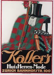 Kaller's [Top Hat and Gloves on Chair].