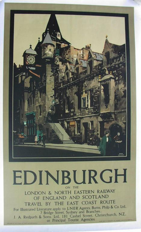 Edinburgh on the London and Northeastern Railway of England and Scotland