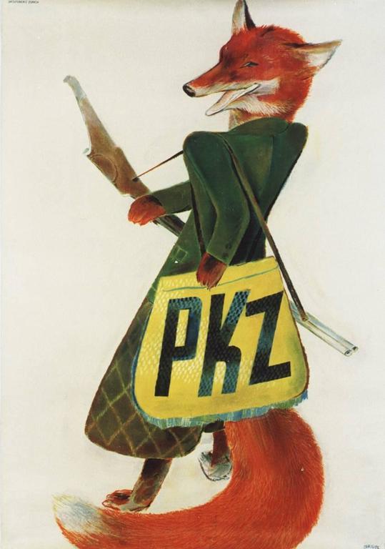 Alois Carigiet Animal Print - PKZ Fox