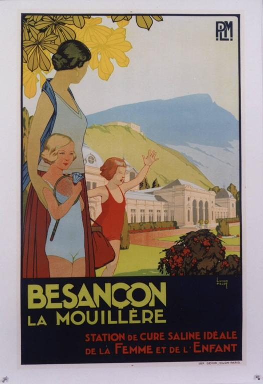 Lucien Pillot Figurative Print - Besancon La Mouillere PLM