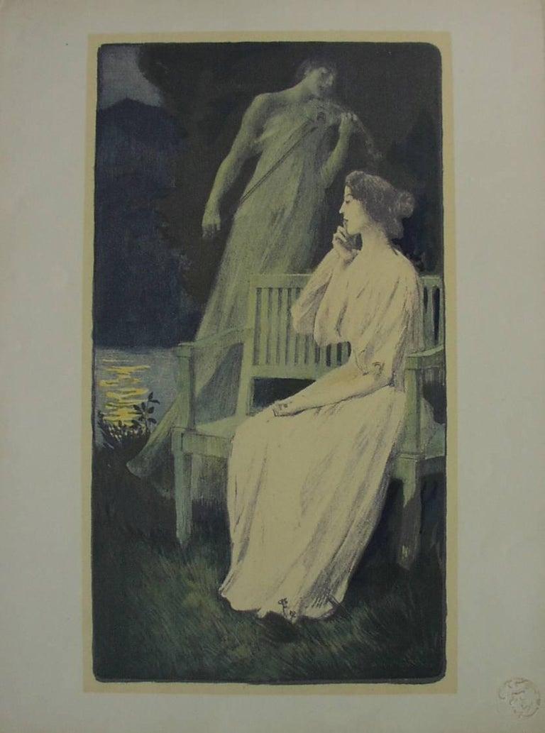 Auguste François Gorguet Figurative Print - Andante Nocturne