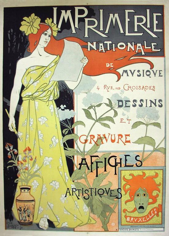 Jean Leonce Burret - Imprimerie National Mvsiqve/Dessines et Gravure/Affiches Artistiques.  1