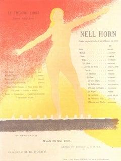 Nell Horn. Program pour Le Theatre Libre. Saison 1980-91.  May 25 1891
