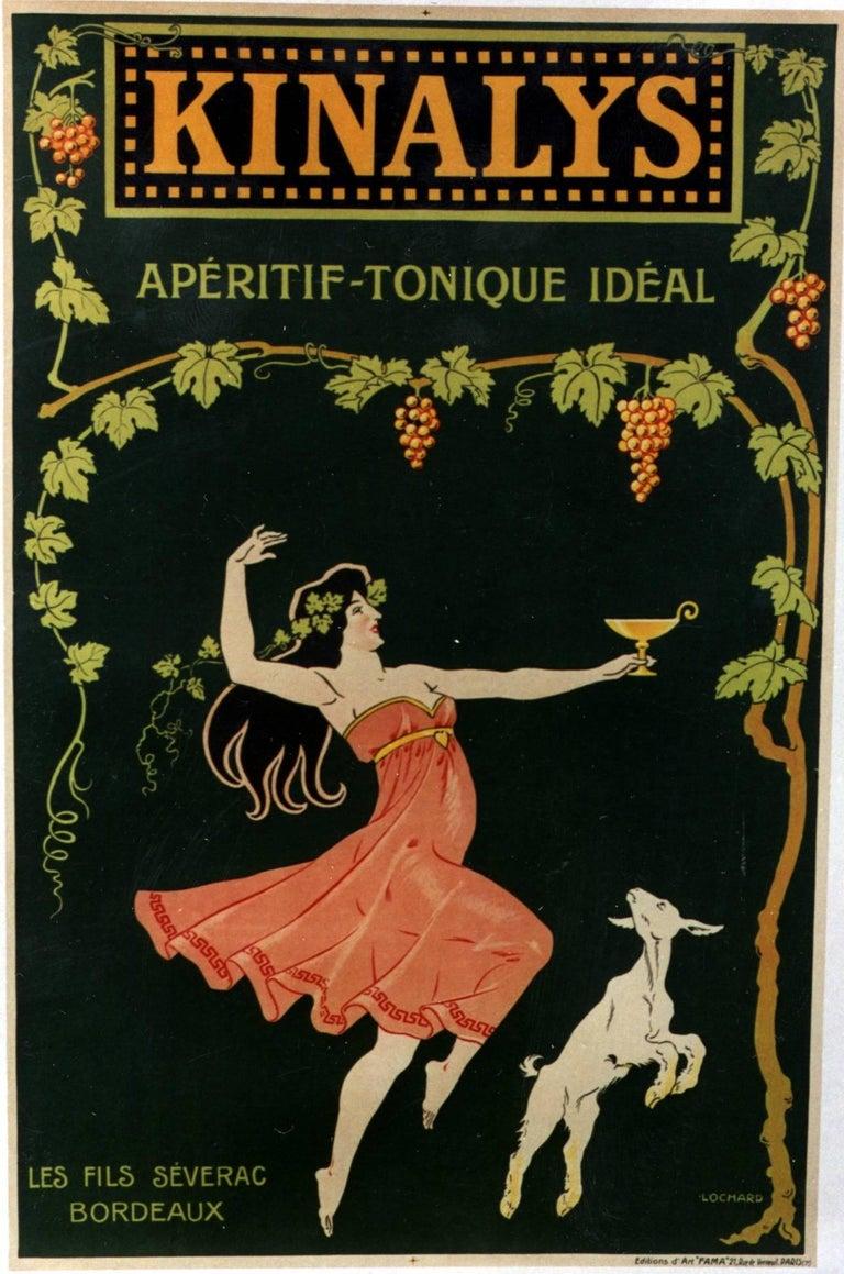 Felix Lochard Figurative Print -  Kinalys -Aperatif - Tonic Ideal/Les Fils Severac- Bordeaux
