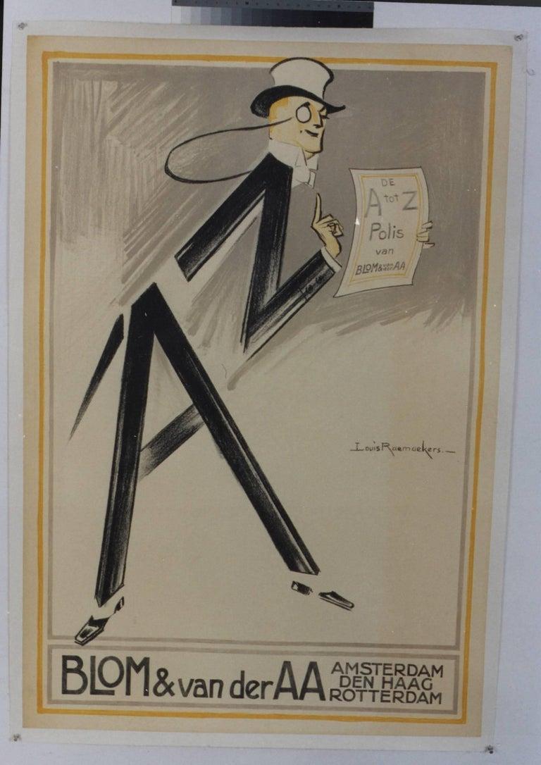 Louis Raemaekers Figurative Print - Blom & van der AA.