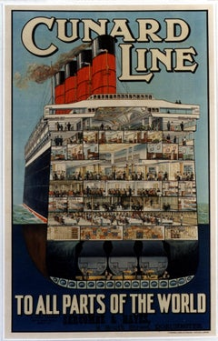 Cunard Line/To All Parts Of the World