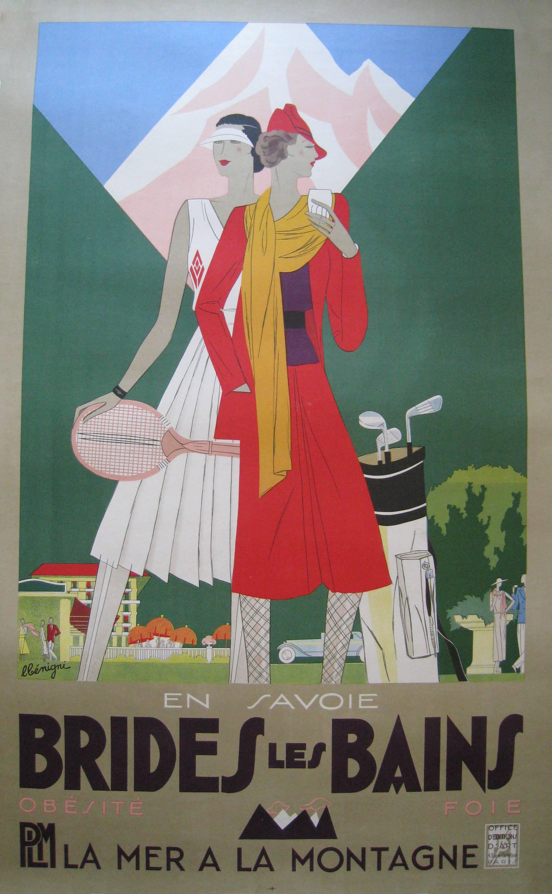 Brides les Bains/En Savoie/La Station de la Femme Elegante.