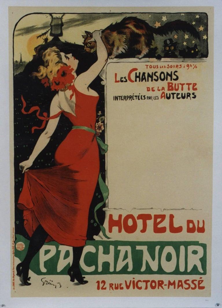 Hotel du Pacha Noir (before lettering).