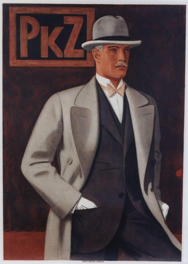 Johann Arnold Figurative Print - PKZ Man with Top Hat