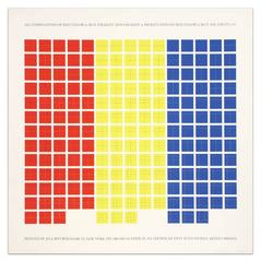 All Combinations of Red, Yellow, and Blue Straight & Broken Lines on Red, Yellow