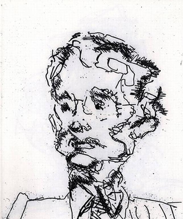 Frank Auerbach Portrait Print - Geoffrey