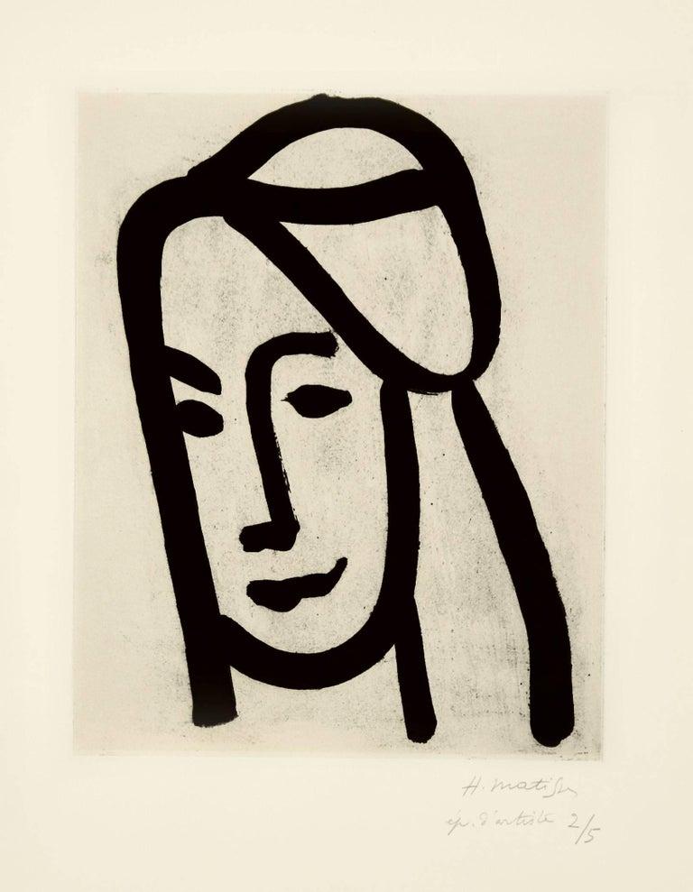 Henri Matisse Portrait Print - Bédouine au long visage