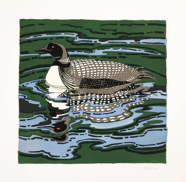 Neil Welliver Animal Print - Loon