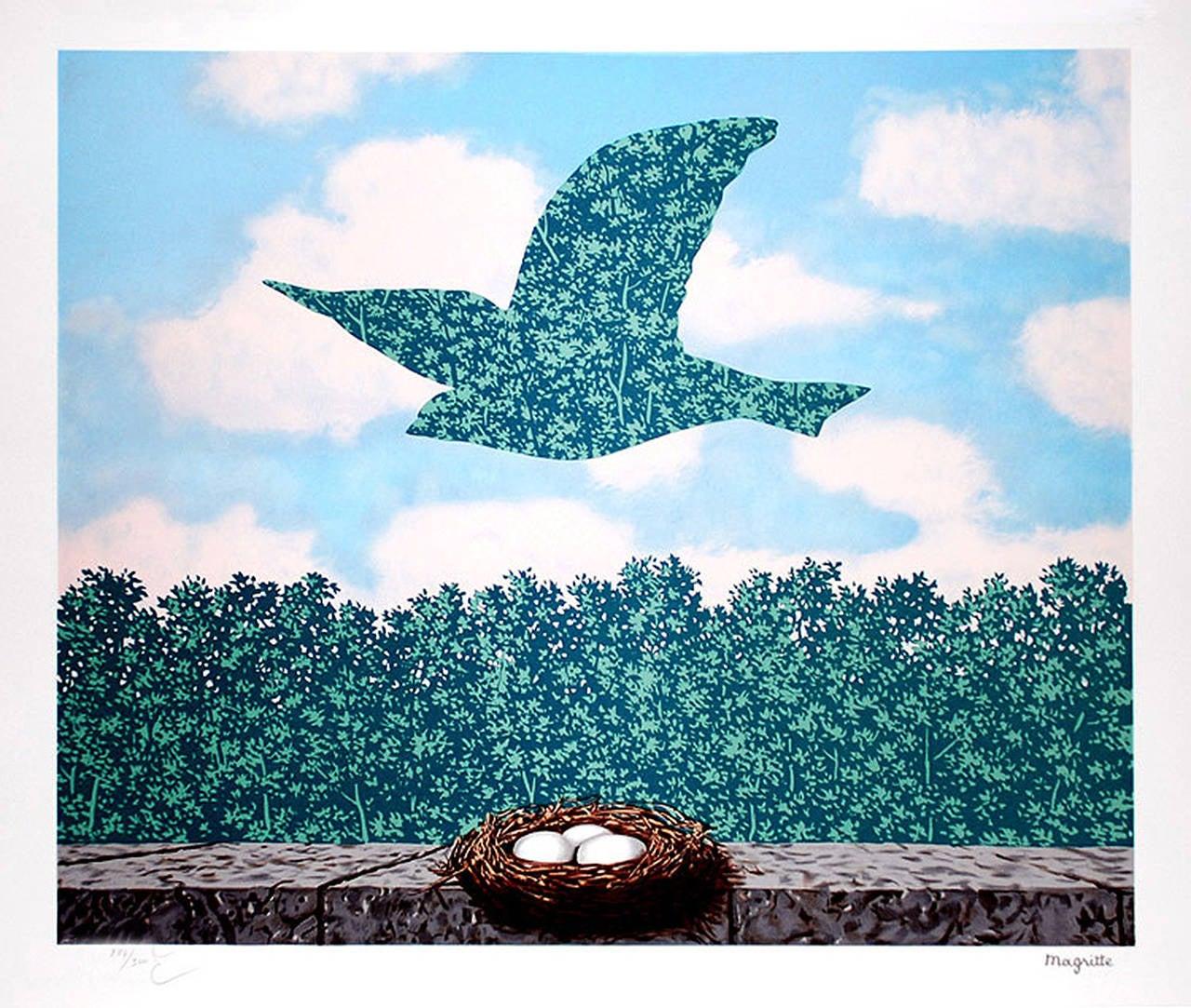 ren magritte le printemps spring print at 1stdibs. Black Bedroom Furniture Sets. Home Design Ideas