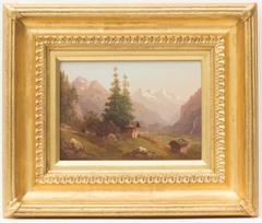Jungfrau from Alpine Meadow