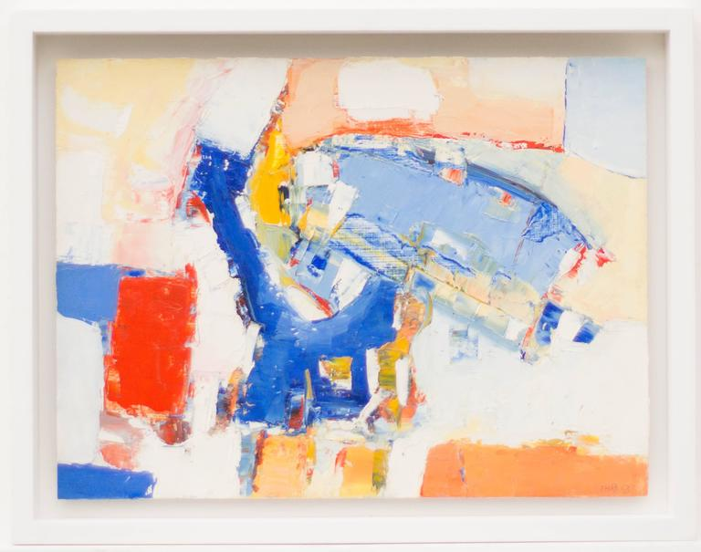 Abstract Composition in Blue, White, Red and Orange