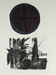 Large Abstract Expressionist Collograph Print, 1967