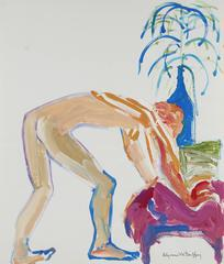 Bay Area Figurative Nude With Plant