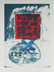 Large Abstract Expressionist Stone Lithograph