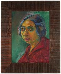 Expressionist Portrait, Oil on Canvas, 1940s